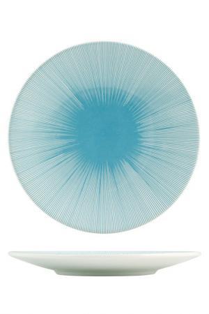 Тарелки десертные 20 см 6 шт. H&H. Цвет: голубой