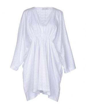 Короткое платье WEILI ZHENG. Цвет: белый