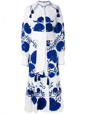 Платье Flower Shell Yuliya Magdych. Цвет: белый