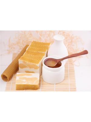 Натуральное мыло - Природная серия Молоко и мёд Entourage. Цвет: желтый, белый