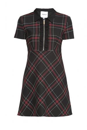Платье из искусственного шелка с шерстью 177441 Anna Rita N. Цвет: разноцветный