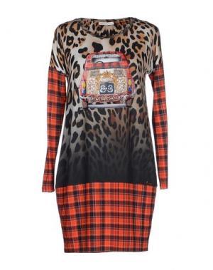 Короткое платье EAN 13. Цвет: бежевый