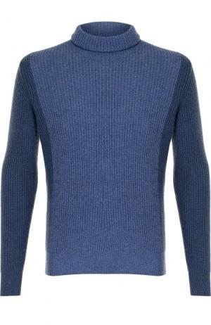 Кашемировый свитер с воротником-стойкой Loro Piana. Цвет: синий