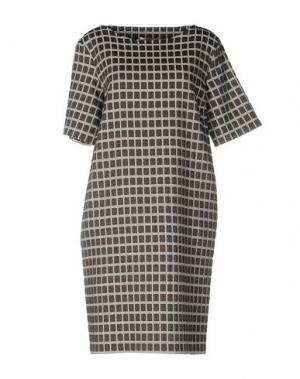 Короткое платье BARBON. Цвет: серый