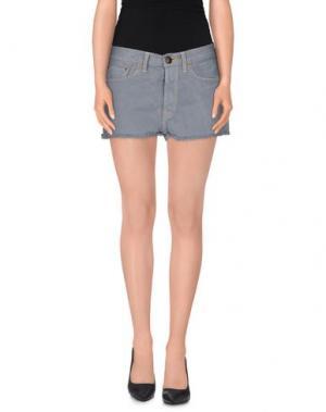 Джинсовые шорты SHIELD. Цвет: серый