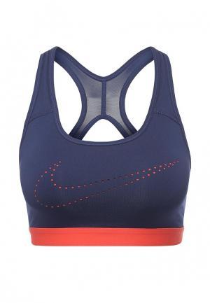 Топ спортивный Nike. Цвет: синий