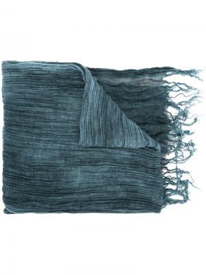 Плиссированный шарф Greg Lauren. Цвет: синий