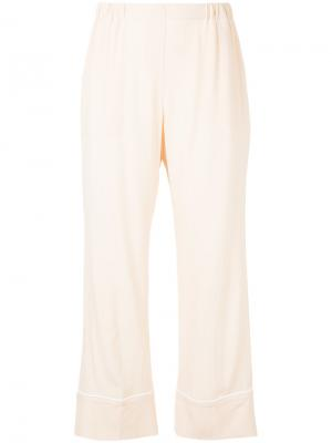 Укороченные брюки Nº21. Цвет: розовый и фиолетовый