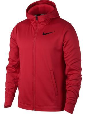 Толстовка M NK THRMA ELITE HOODIE FZ SOL Nike. Цвет: красный