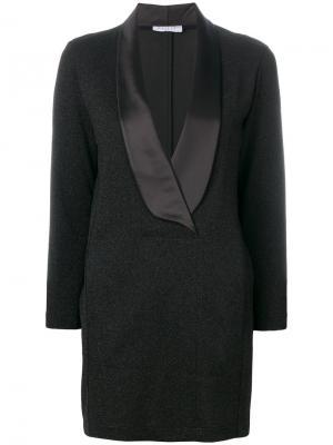 Короткое платье-смокинг Gaelle Bonheur. Цвет: чёрный