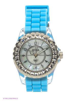 Часы Bora. Цвет: бирюзовый, белый