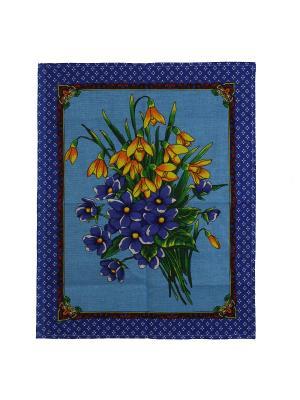 Набор кухонных полотенец Римейн. Цвет: синий, голубой, желтый