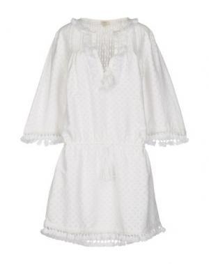 Короткое платье TALITHA. Цвет: белый