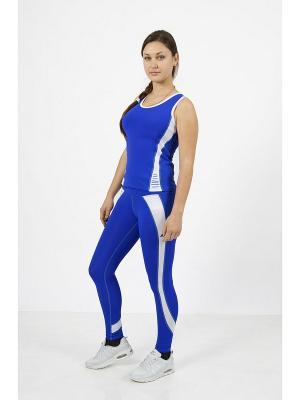 Топ для фитнеса CROSS sport. Цвет: синий