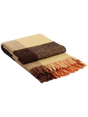 Плед Скиф, 140х200 VLADI. Цвет: коричневый, оранжевый, желтый, терракотовый