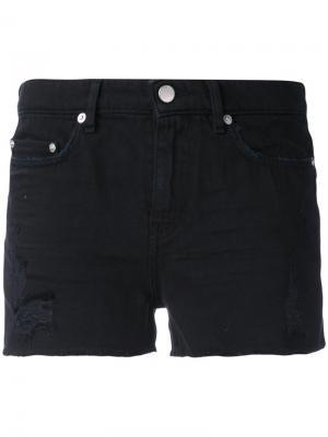 Джинсовые шорты с рваной отделкой Blk Dnm. Цвет: чёрный