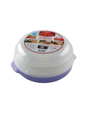 Посуда для микроволновой печи Полимербыт. Цвет: сиреневый
