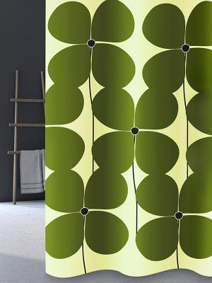 Штора для ванной Quadrifoglio Bacchetta. Цвет: зеленый, светло-зеленый