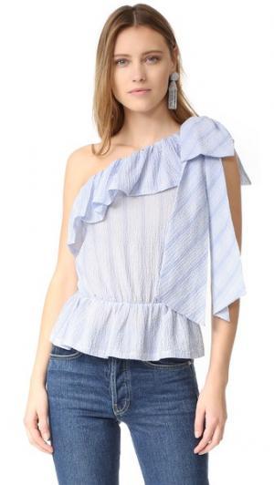 Блуза Aurore Jill Stuart. Цвет: голубой/белый