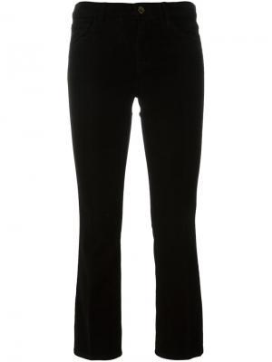 Укороченные вельветовые брюки J Brand. Цвет: чёрный