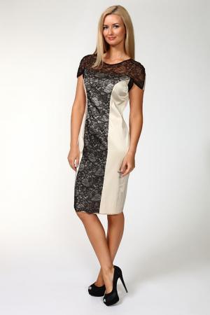 Платье Elisa Fanti. Цвет: бежевый