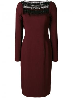 Приталенное платье миди Plein Sud. Цвет: красный