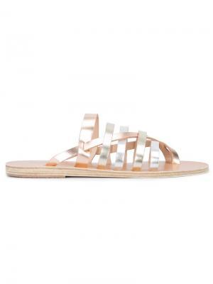 Сандалии Gaia Ancient Greek Sandals. Цвет: металлический