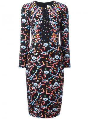 Платье с цветочным узором Peter Pilotto. Цвет: чёрный