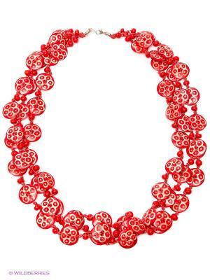 Ожерелье ГАНГ. Цвет: красный, белый