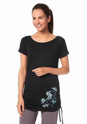 Спортивная длинная футболка, OCEAN SPORTSWEAR. Цвет: черный