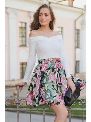 Блузка-боди MARBI. Цвет: белый