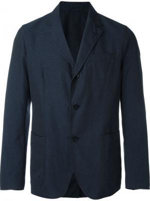 Двухсторонний пиджак Lardini. Цвет: синий