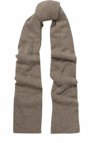 Кашемировый шарф тонкой вязки Johnstons Of Elgin. Цвет: темно-бежевый
