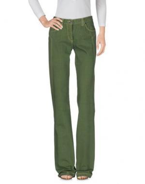 Джинсовые брюки HEAVEN TWO. Цвет: зеленый-милитари