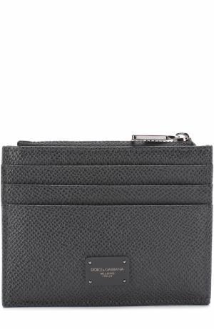 Кожаный футляр для кредитных карт с отделением монет Dolce & Gabbana. Цвет: темно-серый