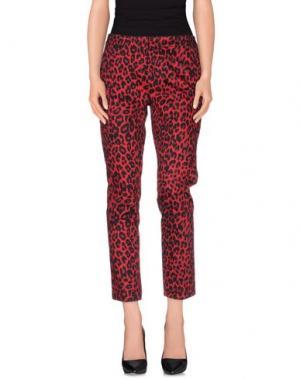 Повседневные брюки MORGAN DE TOI. Цвет: красный