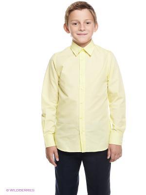 Рубашка Gulliver. Цвет: желтый
