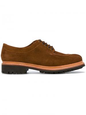 Дерби на шнуровке Grenson. Цвет: коричневый