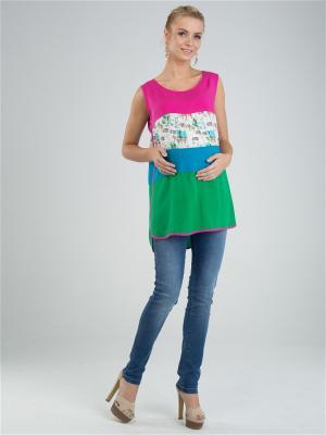 Блузка Mam to be. Цвет: малиновый, голубой, зеленый