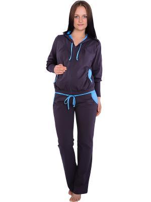 Спортивный костюм Flammber. Цвет: серый, голубой