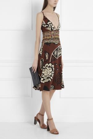 Платье-сарафан Jenny Packham. Цвет: коричневый
