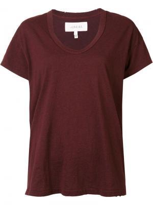 Scoop neck T-shirt The Great. Цвет: красный