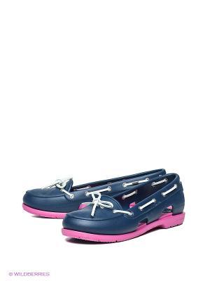Балетки Beach Line Boat Shoe W CROCS. Цвет: темно-синий, фуксия