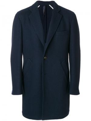 Однобортное пальто Tombolini. Цвет: синий