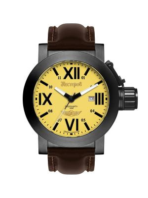 Часы Нестеров. Цвет: желтый, коричневый, черный