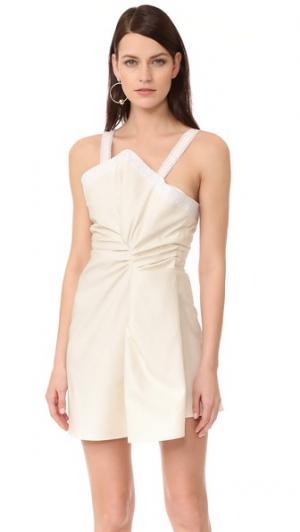 Платье без рукавов Jacquemus. Цвет: белый