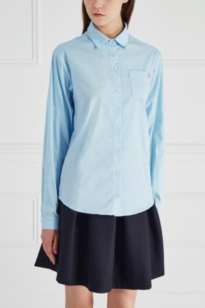 Хлопковая рубашка Girls In Bloom. Цвет: голубой