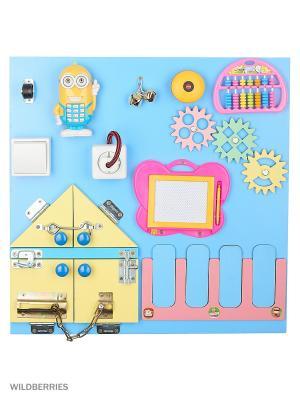 Бизиборд  Для самых маленьких С BIZIKIDS. Цвет: голубой