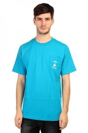 Футболка  Pocket Style Neon Blue Bro. Цвет: синий