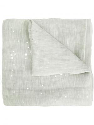 Шарф с эффектом брызг краски Fabiana Filippi. Цвет: зелёный